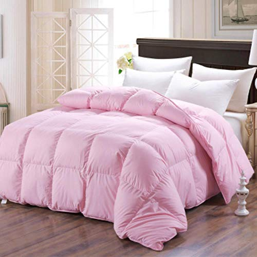 Filled with 100% goose down, warm winter, silky, three colors of the quilt, double full-size quilt,Pink,220x240cm 4000g