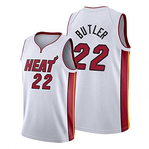 WYNBB NBA Hombre Basketball Jersey,Hot Fire Team n#22 Butler Ropa de Baloncesto,Camisetas Al Aire Libre Casual Mujer Redondo CháNdales,B3,XXL