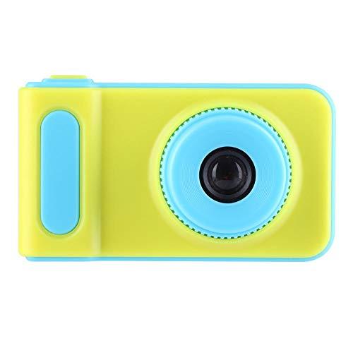 Kindercamera, 2 inch kleurrijke HD 1080P schattige kinderen speelgoed digitale camera, met een nekriem, gemaakt van milieuvriendelijk niet-giftig materiaal, eenvoudige bediening(blauw)
