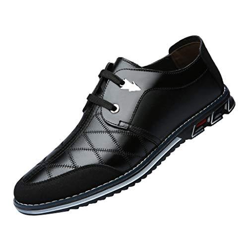 HLIYY - Zapatillas de deporte para hombre, de piel suave, para hombre, Negro (Negro ), 41 EU