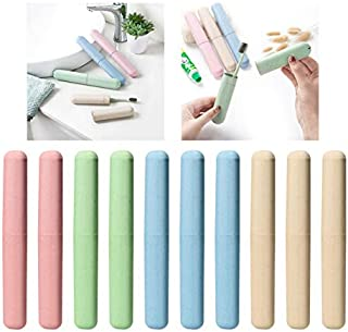 Travel Toothbrush Case,10 Pack Portable Toothbrush Storage Box for Travel and Camp,Assorted Color of Toothbrush Case Holder