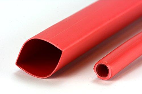 TEMCo 3/4' Marine Heat Shrink Tube 3:1 Adhesive Glue Lined 4 ft RED