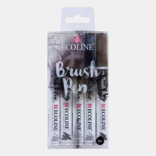 Ecoline Liquid Watercolor Brush Pen, Set of 5 - Grey (11509907)