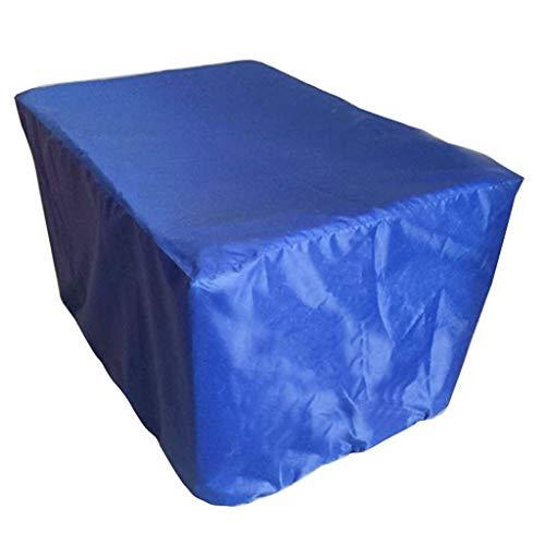 Zbm-zbm Robuuste waterdichte rotan kubus meubels tuin buiten stofdicht UV-regenbescherming - Blauw