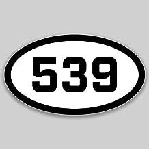 DHDM 539 Area Code Sticker Oklahoma Tulsa Bartlesville Broken Arrow City Pride Love | 5-Inches by 3-Inches | Premium Quality Vinyl UV Resistant Laminate PD2278