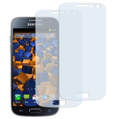 mumbi Schutzfolie kompatibel mit Samsung Galaxy S4 Mini Folie klar, Bildschirmschutzfolie (2X)