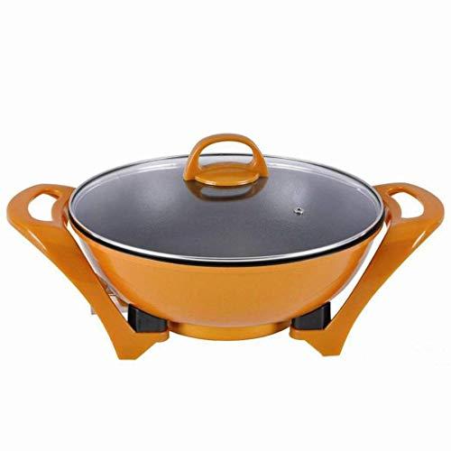Wok Non Stick Elettrico Multifunzione Fornello Padella Wok Elettrico Hot Pot para Cucinare Il Riso Fritto Fideos Spezzatino Zuppa di Pesce Al Vapore Uovo Sodo Piccola Antiadderente Con Coperchio