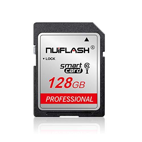 Carte mémoire SD 128 Go - Classe 10 - Pour appareil photo et autres appareils compatibles avec cartes SD (128 Go).