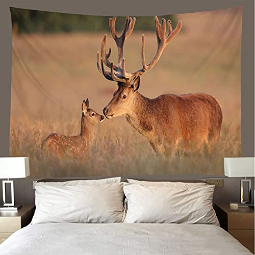 binghongcha Deer Tapestry 260X300Cm Mandala Tapestries Yoga Mat Beach Towel Blanket,Picnic Beach Sheet, Table Cloth, Boho,Decorative Wall Hanging A3221
