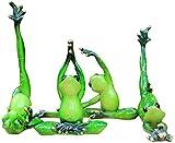YsKYCA Estatua Escultura Decoración Accesorios De Adorno De Estatuilla 4 Unids/Set Yoga Rana Animal Resina Artesanía Rana Dormitorio Lindo Cumpleaños Creativo