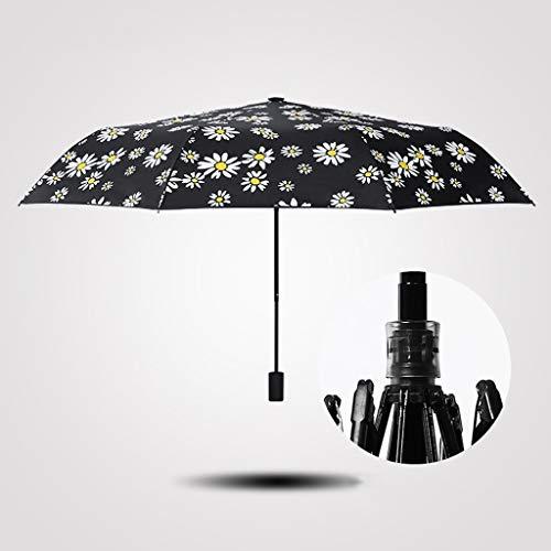Unbekannt FEI Koreanische Studenten Sonnenschirm Regenschirm Sonnencreme Anti-Uv Schwarz Gummi Sonnigen Regenschirm Weiblichen Klapp Dual Verwenden,gewöhnliche