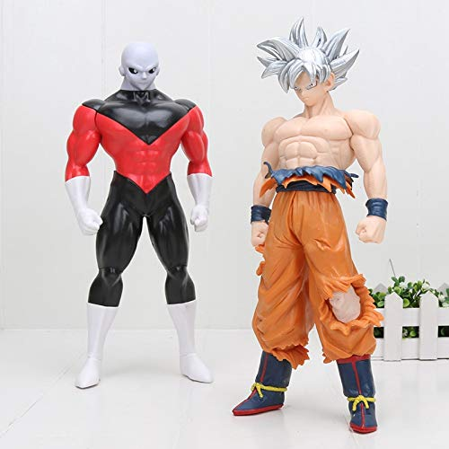 2pcs / Set Big 30cm Dragon Ball Z Super Ultra Instinct Goku Migatte No Goku Jiren PVC Figura de acción Modelo Juguetes