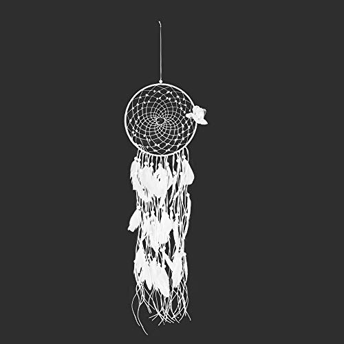 weichuang Campanas de viento para exteriores, tamaño grande, estilo nórdico, atrapasueños de Navidad, decoración del hogar, campanillas de viento blancas (color: C)