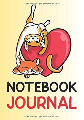 NOTEBOOK JOURNAL: Cuaderno rayado en blanco, para los amantes de los gatos | Funda blanda | regalo perfecto para dueños de gatos | amigos | familia | niño | perfecto para escribir