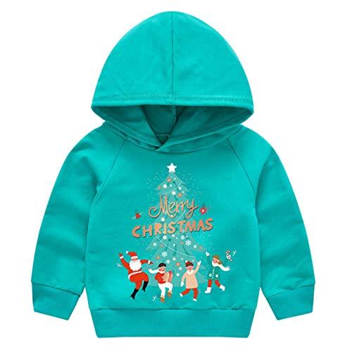 Kinder Weihnachtspullover Weihnachtsmann Deer Letter Print Hoodie Jungs Mädchen Jungen Weihnachtspulli Weihnachten Langarm Unisex Herbst Winter Warm Kapuzenpullover Pullover T-Shirt Top