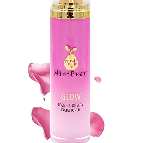 Rose Water Facial Toner | Alcohol-Free | Facial Toner for Aging Skin - Helps Unclog Pores - Decrease Acne- Hydrating Primer & Setting Hydrosol for Sensitive Skin by MintPear®