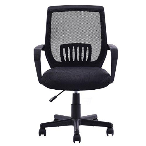 Modern Ergonomic Mid-Back Mesh Computer Office Chair Desk Task 360 Degree Swivel Black #671