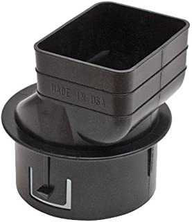 Universal Downspout to Drain Pipe Tile Adapter (Black, 2x3x4)