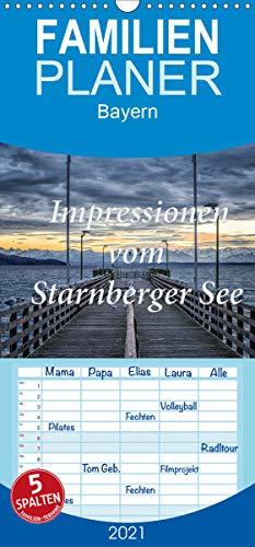 Impressionen vom Starnberger See - Familienplaner hoch (Wandkalender 2021, 21 cm x 45 cm, hoch)