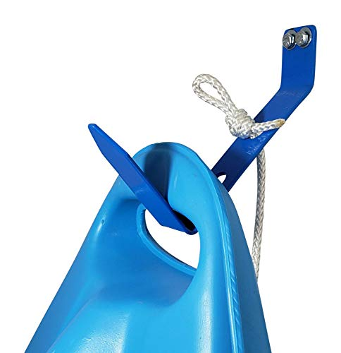 Yak-It-Up | Kayak Storage Hanging Bracket for Garage | Multi-Use Kayak Wall Hanger | Easy-Up | Heavy Duty | Complete Kayak Rack Hanging Kit (Black)