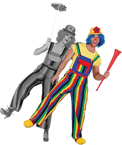 Fancy Me Crazy Colorful Rainbow Clown Karneval Pride Celebration Event Parade Weitbein-Kostüm Kostüm Outfit Latzhose
