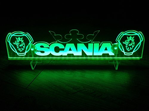 24?V LED Light Neon plaque pour Scania Trucker Camion Vert illuminant Sign Table Couronne Cabine D?coration Accessoires grav? au laser 24?V/5?W