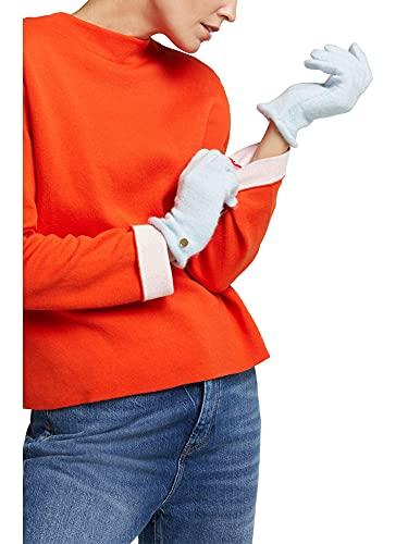 ESPRIT edc by Accessoires Damen 100CA1R302 Winter-Handschuhe, 435/PASTEL Blue, 1SIZE