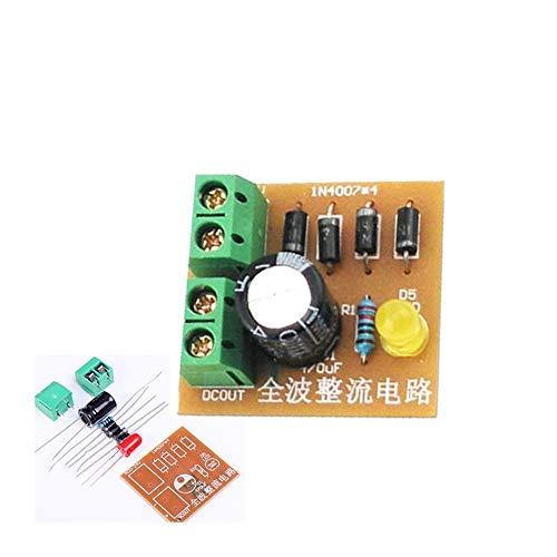 10 unids Kits DIY IN4007 Puente de Onda Completa Puente Rectificador Tablero de Circuitos AC a DC Fuente de Alimentación Convertidor Enseñanza Electrónica