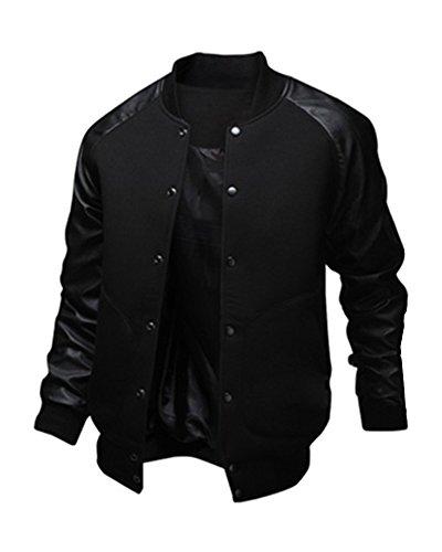 Gladiolus Hombres Ropa De Béisbol Sudadera Capa Sobretodo Parka Abrigos Calentar Outwear Chaquetas Negro M