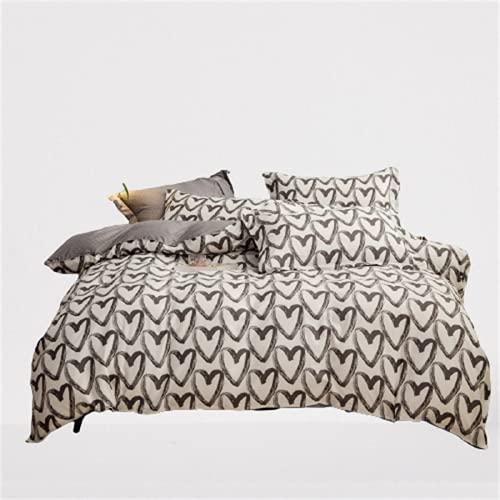 CCBAO Juego De 4 Piezas De Ropa De Cama Textil para El Hogar Funda Nórdica Love Suave Y Delicada Transpirable Y Fácil De Limpiar 150x200cm