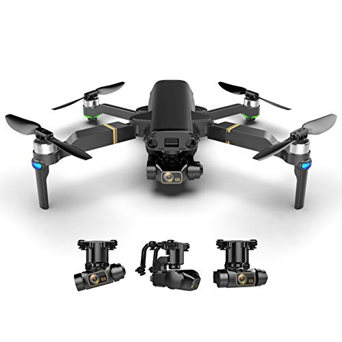 2021 Nuevo Drone 8k HD Mecánico de 3 Ejes Gimbal Cámara Dual 5G WiFi GPS Fotografía aérea Profesional Mini Drone Quadcopter,2*Battery