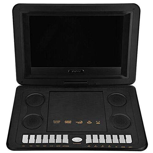 Review YP 13.8 inch Portable DVD Player 270 Degree Rotation Built-in Stereo Speakers, Support Earpho...