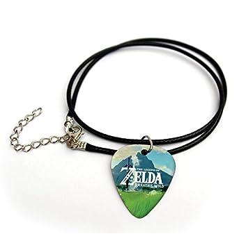Zelda printed guitar pick necklace 18