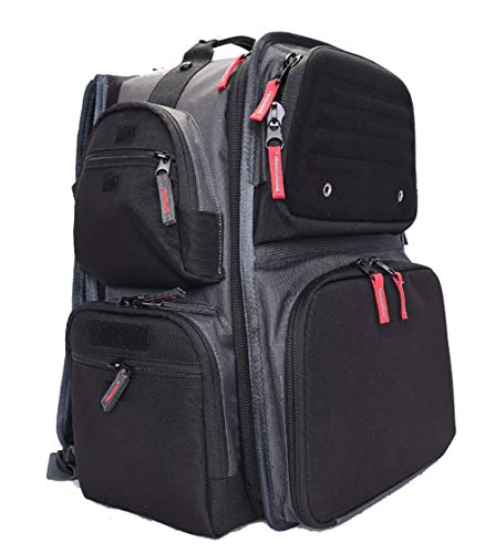 G5 Outdoors G.P.S. Executive Backpack Range Bag, Black/Grey