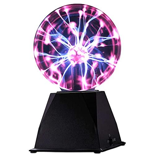 ArtCreativity Bola de plasma para niños, 1 unidad, lámpara de plasma de escritorio con 2 modos interactivos, luz nocturna alimentada...