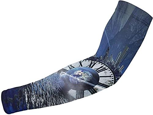 Manicotti per braccio, protezione UV, raffreddamento, per uomini e donne, scaldabiancheria taglia unica, orologio da polso Urban Architecture Mare Compressione