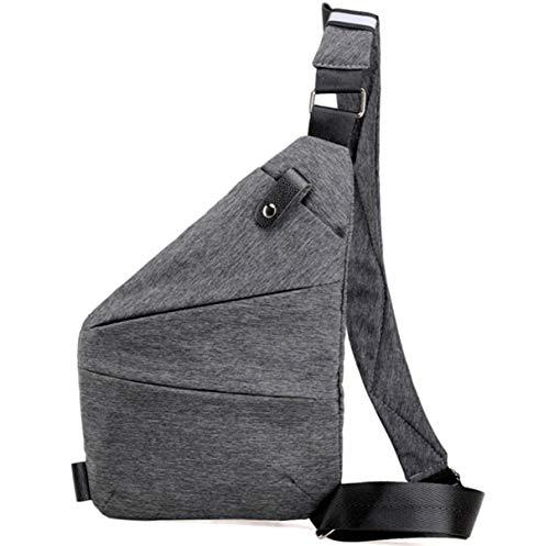 Yeying123 Hombre Ultra-Delgada Creativa Bolsa De Pecho Impermeable Oxford Tela Gran Capacidad Al Aire Libre Travel Messenger Bolsa,Rightshoulder