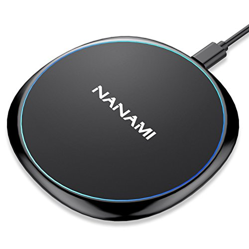 Fast Wireless Charger,NANAMI 7.5W Wireless Charging Pad Compatible iPhone 11/11 Pro/11 Pro Max/XR/XS Max/XS/X/8/8 Plus,10W Charger for Samsung S10+ S9 S8 Note10+/10/9/8 & New Airpods-Ultra Slim Design
