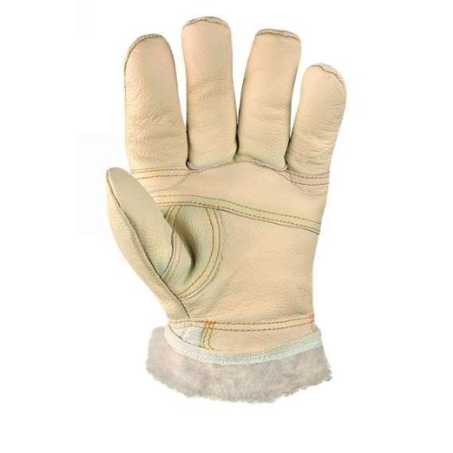 1 Paar, Möbelleder Handschuhe hell, mit Acryfutter, Größe 10 (XL)