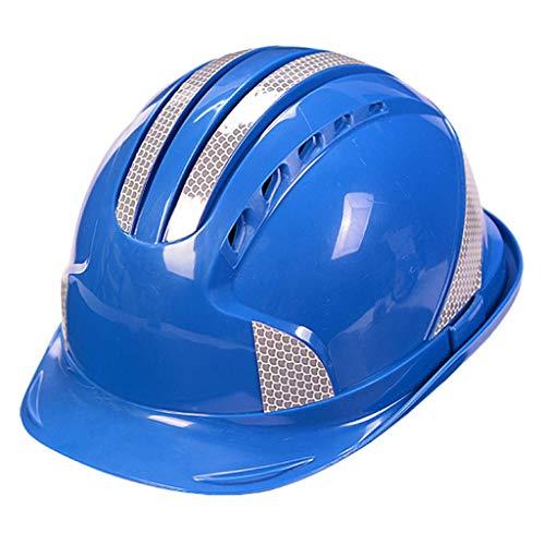 XHDP Sicherheitskopfbedeckungen Baustelle reflektierende Streifen Technik Schutzhelm, geeignet for Energie Bergbau Baustelle Gleisvermessung (Color : C)