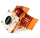 Integy RC Model Hop-ups T8074ORANGE Motor Heatsink 540 Size w/Cooling Fan for Slash Stampede 2WD Rustler 2WD Bandit