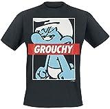 Die Schlümpfe Grouchy Männer T-Shirt schwarz M