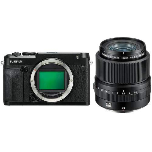 Lowest Prices! Fujifilm GFX 50R Medium Format Mirrorless Camera (Body Only) FUJINON GF 45mm F/2.8 R ...