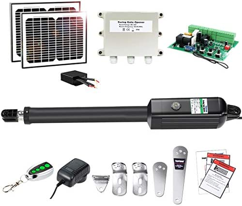 TOPENS A5S Automatic Gate Opener Kit Medium Duty Solar Single Gate Operator for Single Swing product image