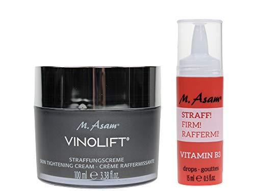 M. Asam BOOST Vitamin B3 Drops STRAFF (15ml) + Vinolift Straffungscreme 100ml