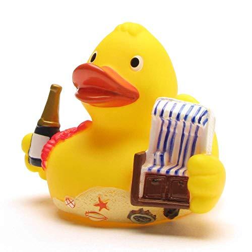 Badeente City Duck Sylt I Quietscheente I Duckshop I L: 8 cm - inkl. Badeenten-Schlüsselanhänger im Set