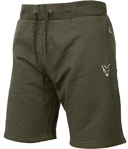 Fox Collection Green Silver LW Shorts - kurze Hose für Angler, Sporthose für Karpfenangler, Angelshorts, Anglerhose, Angelhose, Größe:L