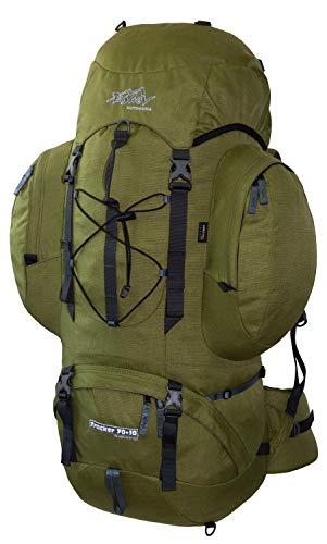 Tashev Outdoors Tracker Trekkingrugzak Wandelrugzak Dames Heren Backpacker Rugzak Groot 70l Plus 10l (Gemaakt in EU)