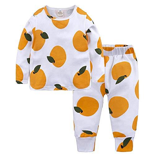 Conjunto de Pijamas para niñas, Conjuntos de Pijamas con Estampado de Frutas, Conjuntos de Pijamas para niños, 2 Piezas