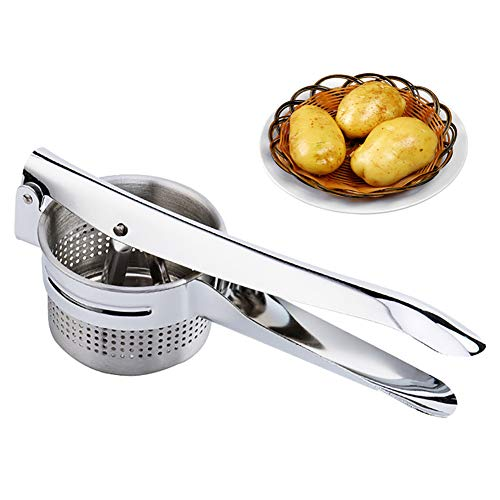 XINGXINGNS Stainless Steel Manual Juicer for Coarse & Fine Ricing-Best Potato Press for Fruit,Orange, Citrus, Lemons,Vegetables Juice Device
